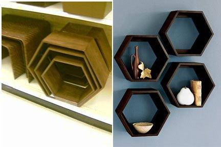 Hexagonale Regale